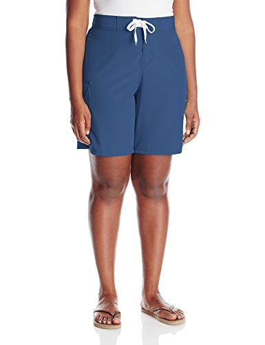 95b4c138bb Clothing, Shoes & Jewelry ATTRACO Womens Plus Size Board Short High Waisted  Solid Stretch Boyleg Swim Shorts