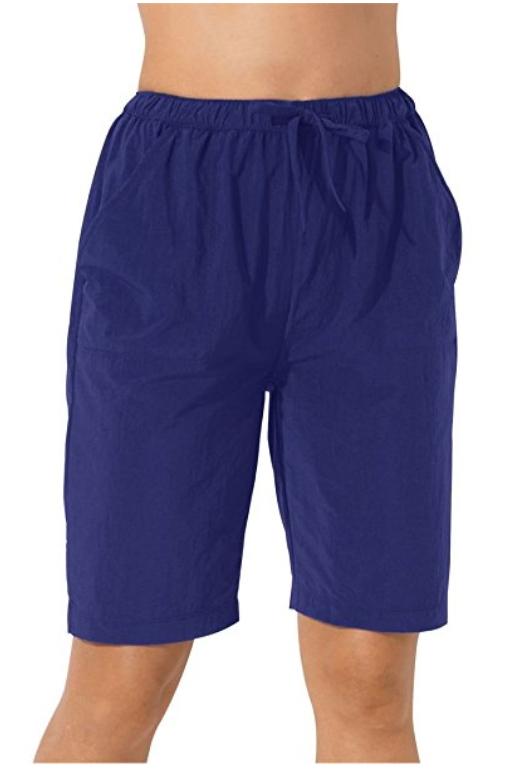 9c08c5aa10 Swim 365 Women's Plus Size Long Taslon Board Shorts | Womens Board ...