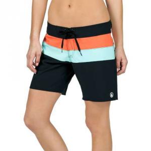 0c82a14da2 Volcom Simply Solid 7″ Short – Women's Black 7 | Womens Board Shorts ...
