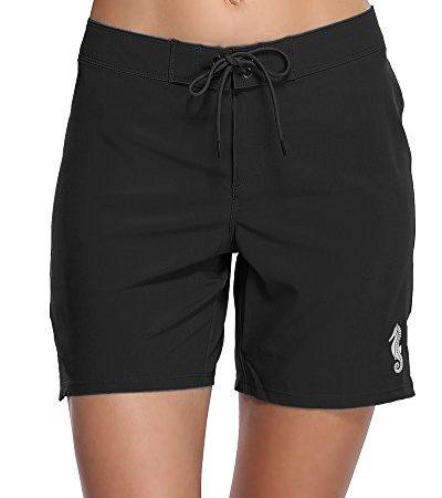 74c2d280a01bf Sociala Women's Solid Board Shorts Workout Shorts Swim Bottom Trunks  Boardshorts