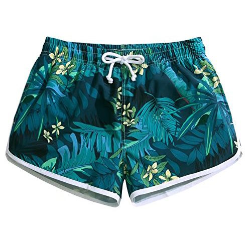 63e451f8c3f Women s Quick Dry Tropical Rain Forest Beach Shorts Casual Stylish Printing Board  shorts