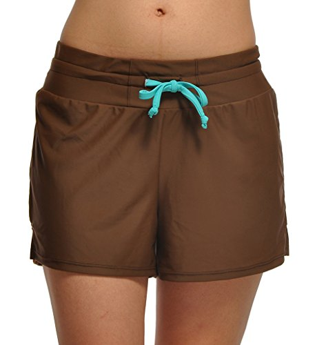 88110753f44 DUSISHIDAN Printed Board Shorts for Women with Back Pockets