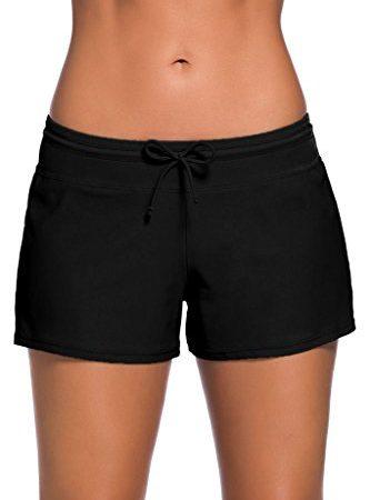 5a5055ad92 Shawhuwa Womens Sexy Solid Stretch Board Shorts Tankini Bottom Swimwear