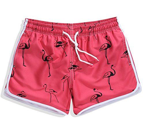 b923c6b359 Women's Quick Dry Boardshorts Bathing Suits Swimming Trunks Animal Prints  Beach Shorts