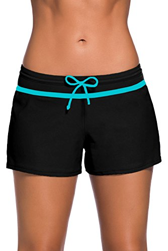 fe9c3a9de53 Aleumdr Womens Side Split Waistband Swim Shorts With Panty Liner Plus Size  S – 3XL