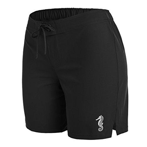 01c82d63bdd anfilia Womens Quick Dry Boardshorts Long Swim Shorts Trunks Beach Shorts