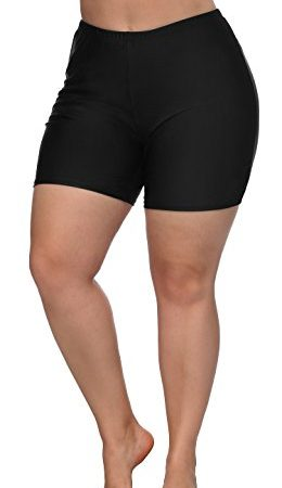 a5221796f86 ATTRACO Womens Plus Size Board Short High Waisted Solid Stretch ...